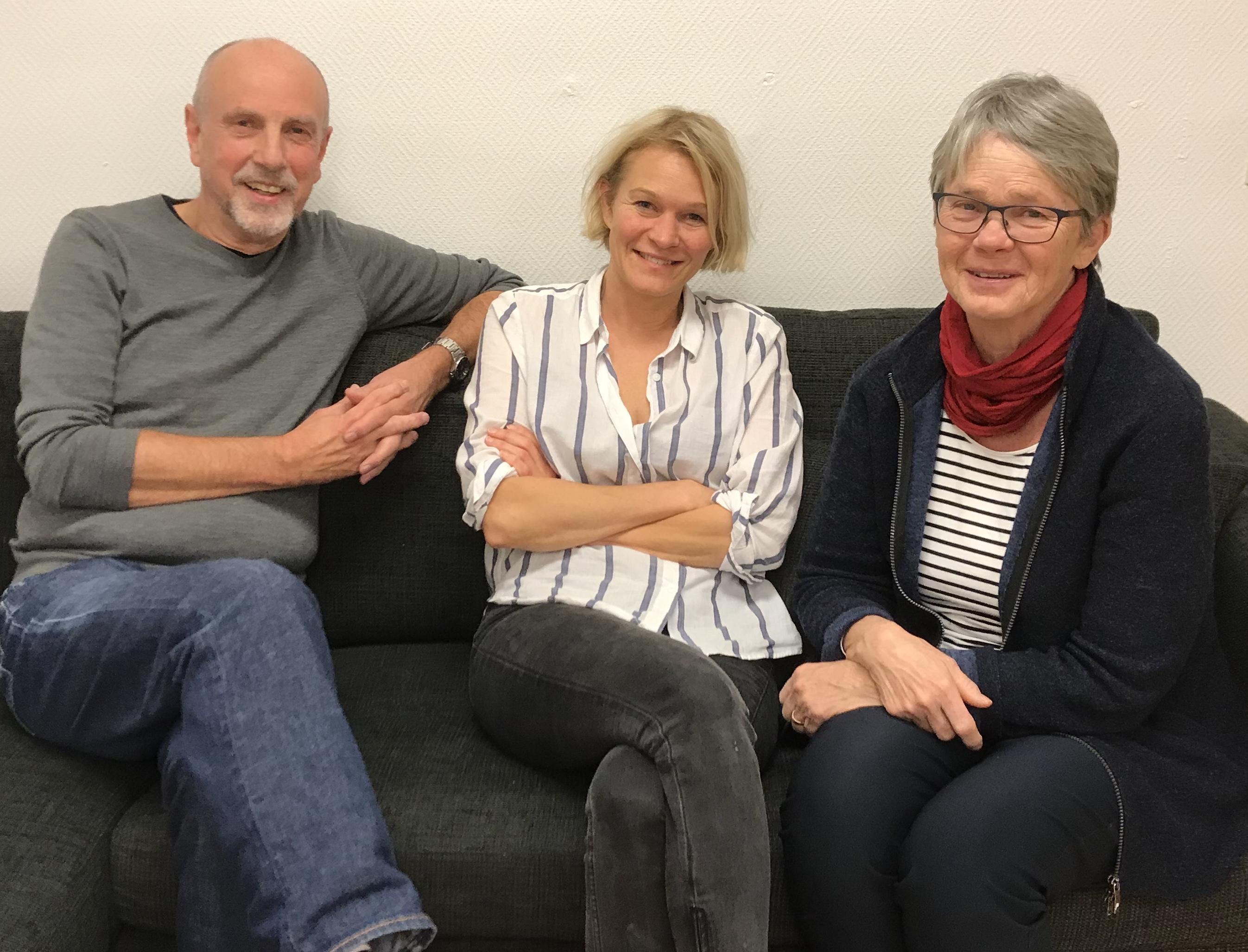 Valberedningen i Stapelbädden 5.  Fr v Christer Rynhag, Susanna Eschricht och Ingrid Severin
